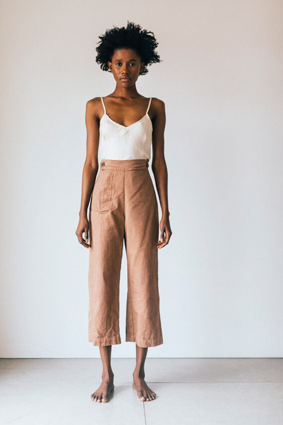 model wearing cp pants